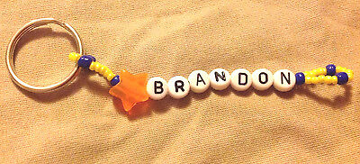 Boys Or Men's Personalized Keychain Or Zipper Pull With The Name Brandon-New