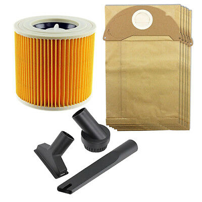 Mini Tool Cleaning Nozzle Bags Filter Kit Karcher Wet & Dry Vacuum WD2.240
