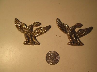 Z44 Vintage Pair of Metal American Eagle Furniture Decorations Antique