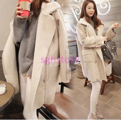 2016 Women's Winter Warm Long Sleeve Stand Collar Outwear Coat Parka Jacket Size