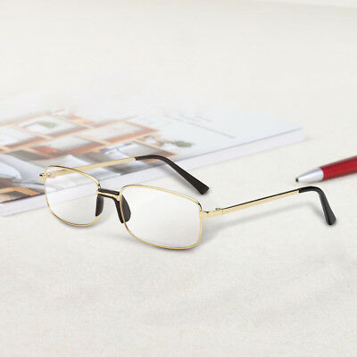 Clear Lens Glasses With Bifocal Reading Lens Half Rim Square Frame +1.0~4.0 Gold