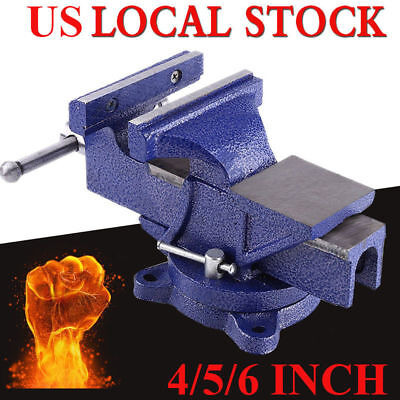 "6"" Mechanic Bench Vise Table Top Clamp Press Locking Swivel Base Heavy Duty US"
