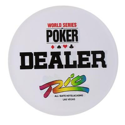 Crystal Texas Hold'em Button Poker Chip Banker Dealer Party Game Casino Tool