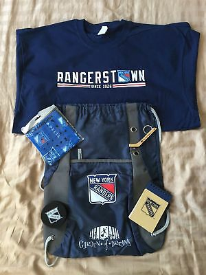 New York Rangers Gift Set T-Shirt, Bag, Keychain, Puck, and More