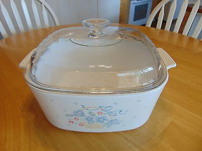 Corning Ware A-5-B Country Cornflower Casserole Dish and A-12-C Lid