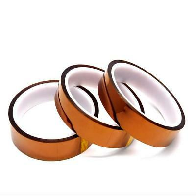2pcs Adhesive Tape High Temperature Heat Resistant 20mm 33m 100ft Polyimide