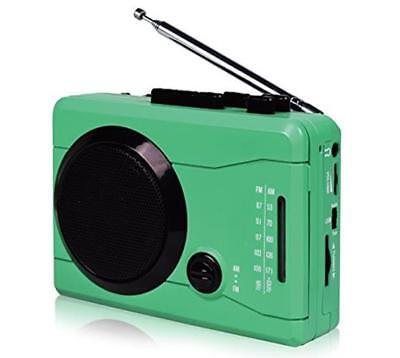DIGITNOW! USB Mini Stereo Audio Retro Personal Cassette Player Recorder Green