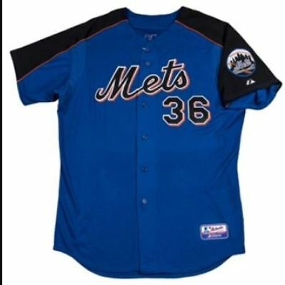NEW YORK METS - KELLY STINNETT original game used batting practice Jersey signed