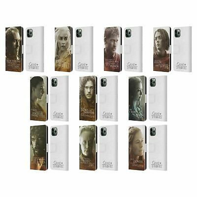 OFFICIAL HBO GAME OF THRONES CHARACTER LEATHER BOOK CASE FOR APPLE iPHONE PHONES