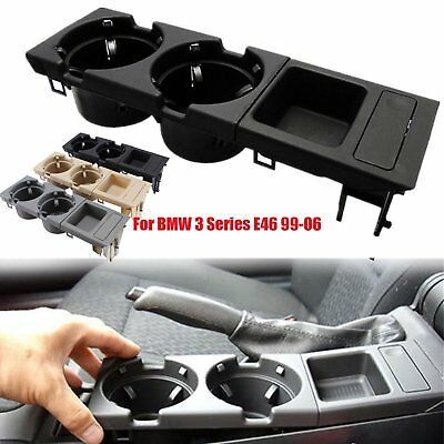 Car Center Console Storing Box +Drink Cup Coin Holder For BMW 3 Series E46 99-06