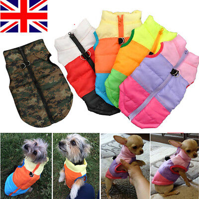 Puppy Pet Dog Coat Warm Insulated Padded Coat Thick Winter Puffer Jacket Clothes