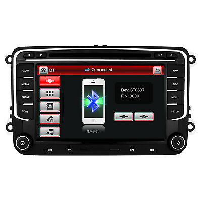 Car Stereo Radio DVD GPS Sat Nav For POLO SHARAN SKODA PASSAT TOURAN GOLF 5 6 T5