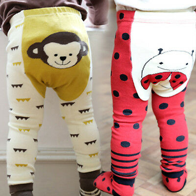 Kids Baby Toddler Infant Boy Girl Cartoon Leggings Trousers PP Pants +Socks