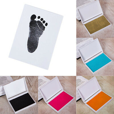 Baby Safe Inkless Touch Footprint Handprint Ink Pad Non Toxic Commemorate