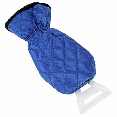 Ice Scraper Mitt For Car Windshield Snow Scrapers with Glove Lined of Thick Blue