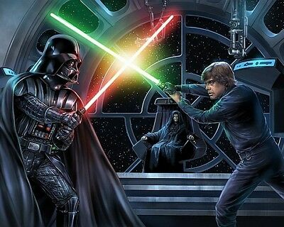 DARTH VADER v LUKE SKYWALKER 01 (STAR WARS) ART PRINT MUGS AND PHOTO PRINTS