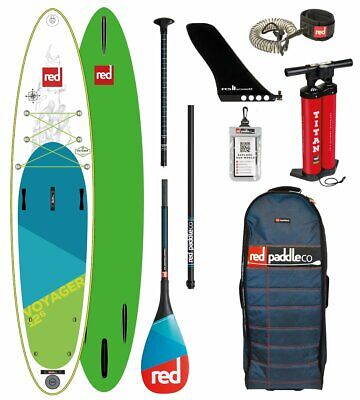 Red Paddle Co 2018 12.6' VOYAGER Touring MSL Set Package Stand Up Paddle Touring