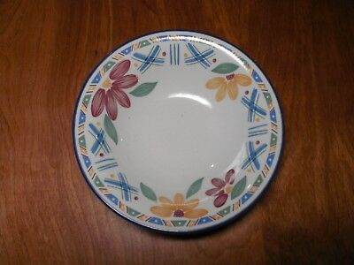 "Staffordshire England BOLERO Set of 5 Soup Cereal Bowls 6 3/4"" Blue Flowers"