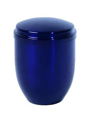 Large/Adult 230 Cubic Inches Royal Blue Metal Funeral Cremation Urn for Ashes