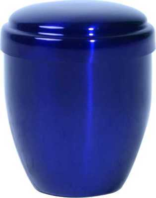 Small/Keepsake 10 Cubic Inches Royal Blue Metal Funeral Cremation Urn for Ashes