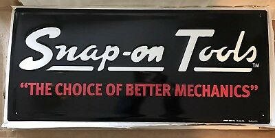 NEW Snap-on Tools Embossed Sign The Choice Of Better Mechanics