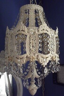 ANTIQUE Vintage French Victorian PARIS Ornate Crystal Chandelier-ONE of a KIND!