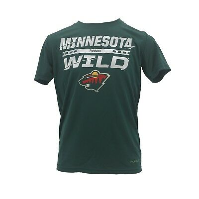 Minnesota Wild NHL Kids Youth Size official Reebok Play dry T-Shirt New  With Tag fdb21a4c0