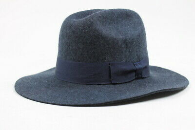 b5f1be9ea71 Brixton LTD Womens Simone Fedora Sun Hat Heather Navy Size S New