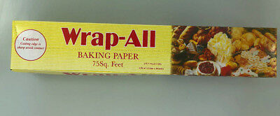 Wrap-all Baking Parchment Paper Roll (75 Sq Ft) 23 Metres x 302mm)- Good Quality