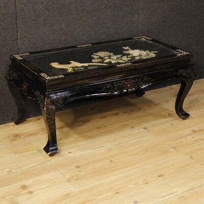 Low table lacquered chinoiserie furniture living room wood antique style 900 XX