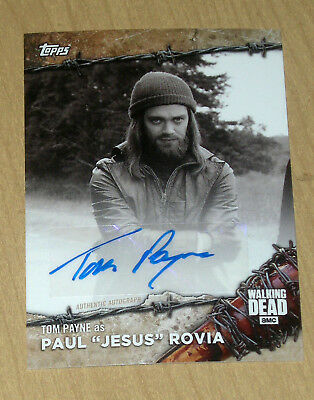 2017 Topps Walking Dead On Demand Black/White autograph Tom Payne ROVIA 1/5