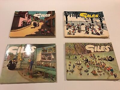 Giles Annuals x4 No's 15, 16, 17, 19 (1960 -1964) ideal for collector, daily Exp