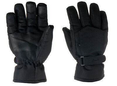 New 3M Thinsulate Waterproof Insulated Ski Snow Gloves Men Women Black