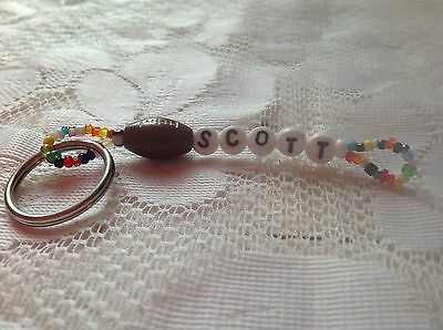 Boys Or Men's Personalized Keychain Or Zipper Pull With The Name Scott-New