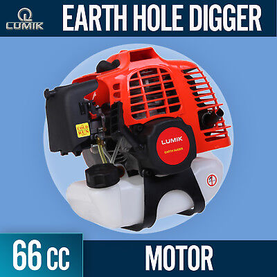 NEW 66cc Post Hole Digger Earth Auger Motor only Petrol Fence Borer Professional