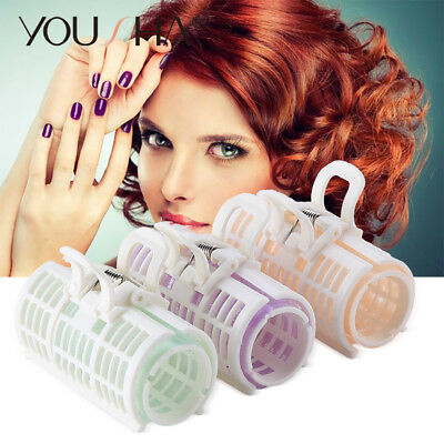 6PCS/SET Magic Curlers Plastic Hair Roller Hairdressing DIY Large Twist Beauty