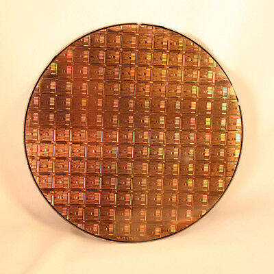 """200mm (8"""") Silicon Wafer With Amazing CPU Chip Patterns"""