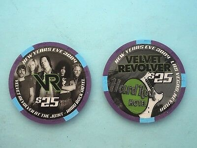 Hard Rock  Velvet Revolver  $25 Casino Chip - Mint/New