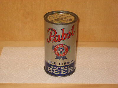 Pabst Blue Ribbon Export OI IRTP flat top beer can ss Milwaukee WI BEAUTIFUL