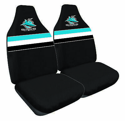CRONULLA SHARKS Official NRL Seat Covers Airbag Compatible *NEW 2018 Design*