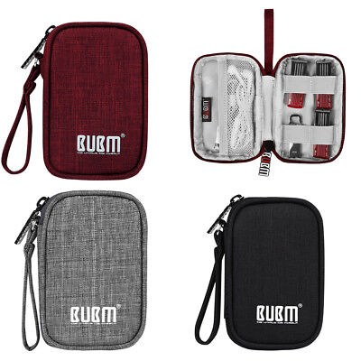 Portable Electronics Bag Pouch Zipper Storage For USB Cable U Disk Earphone