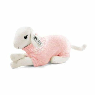 Steiff Lamb With Pink Cashmere Sweater, Sealed in Shipper Box! EAN 239045, HTF