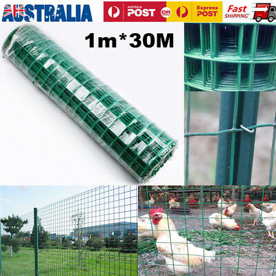 1Mx30M Roll Welded Wire Mesh Animal Fence Graden Chicken Pet Coop Aviary Fencing