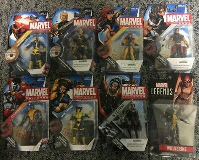 Marvel Universe Lot of 8 Cable (baby Hope) Jean Grey Cyclops Storm Lady Wolverin