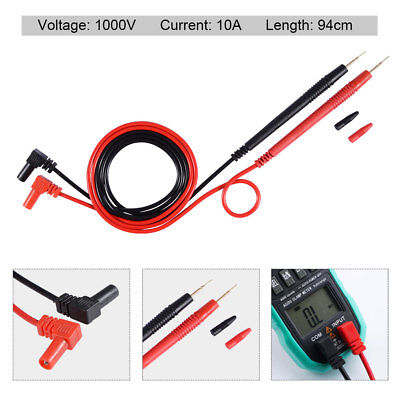 Test Leads Set 1000V 10A Hard Point For Digital Multimeter Meter Probes RedBlack