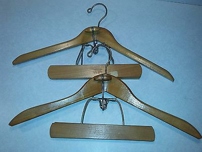 Vintage Heavy Vintage Wooden Suit Hanger for Jacket and Pants