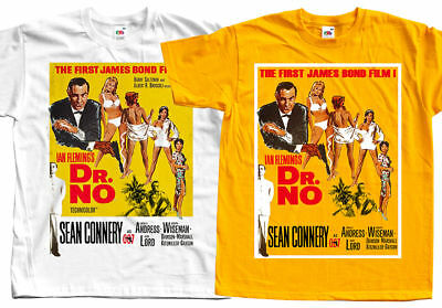 James Bond: Dr. No V1, Terence Young, 1962, T-Shirt (WHITE) All sizes S to 5XL