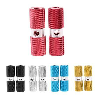 """BMX Stunt Scooter Pegs Alloy Cylinder Bike Bicycle Axle Foot Pegs 3/8"""" 10mm"""
