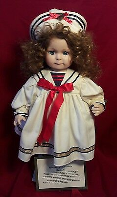 "Westminster Fine Bisque Porcelain Doll Belinda""Limited Edition Sailor Outfit 20"""
