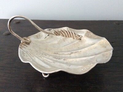 Asian solid Sterling Silver Dragon and Shell Dish / Chinese Export / Hallmarked